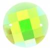 Opal Bright Sew-on Stone 10pcs Round 16mm Lime Aurora Borealis